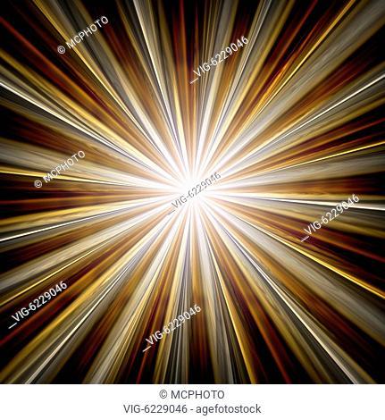 BUNDESREPUBLIK DEUTSCHLAND, BAYERN, 06.06.2010, A beautiful golden star with rays background - Bayern, Bayern, Germany, 06/06/2010