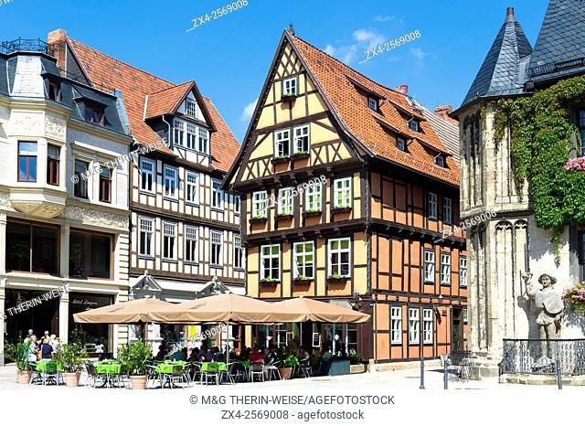 Half-timbered houses, Quedlinburg, Harz, Saxony-Anhalt, Germany, Unesco World Heritage Site