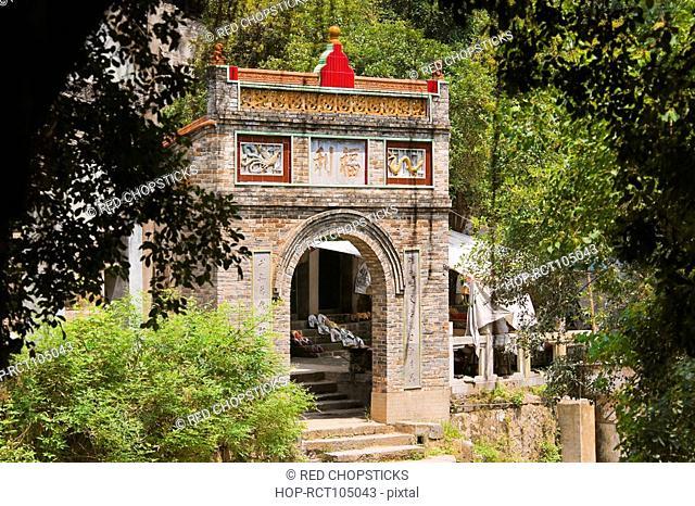 Entrance of a building, Fuli Village, Yangshuo, Guangxi Province, China