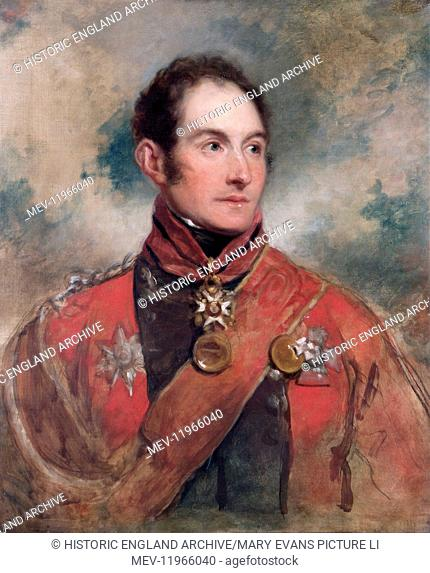 APSLEY HOUSE, London. Lt-General Sir Edward Barnes 1818 by George DAWE (1781-1829). WM 1537-1948. APSLEY HOUSE, London. 'Lt-General Sir Edward Barnes' 1818 by...