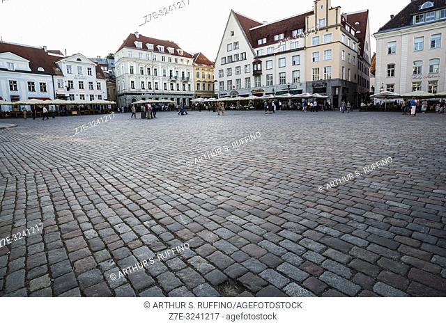 Tallinn Town Hall Square (Raekoja Plats). Old Town, Tallinn, Estonia, Baltic States
