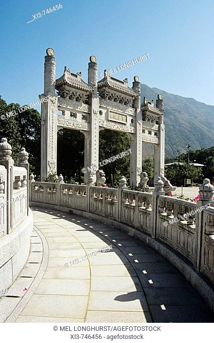 Gateway, Po Lin Monastery, Lantau Island, Hong Kong, China