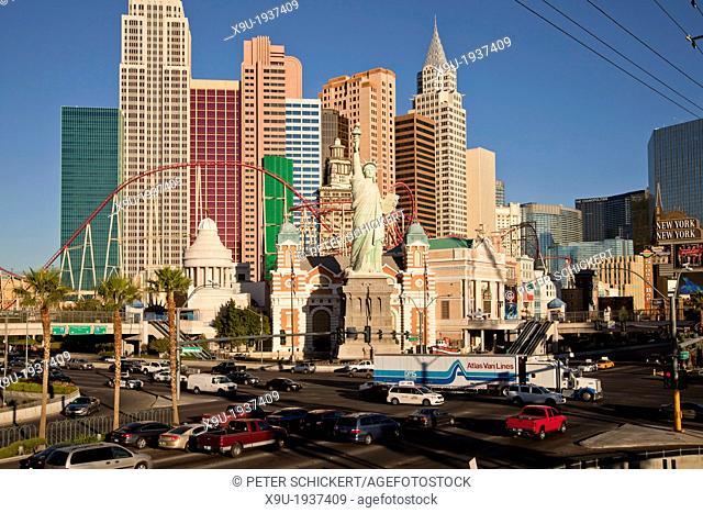 New York-New York Hotel & Casino in Las Vegas, Nevada, United States of America, USA