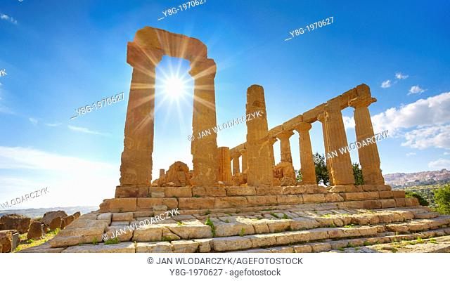 Agrigento - Temple of Hera in Valley of Temples (Valle dei Templi), Agrigento, Sicily, Italy UNESCO