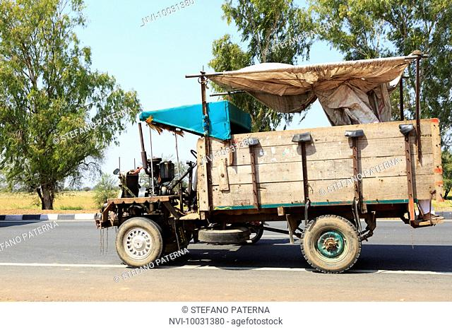 At the expressway in Rajasthan, India