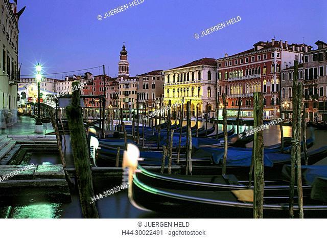 Italy,Venice, Canale Grande,gondola,dusk