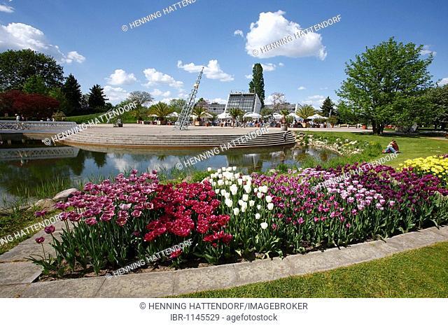 b91a35061ea809 Britzer garten garden in berlin Stock Photos and Images