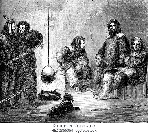 Elisha Kent Kane and his companions in Greenland, c1855 (c1880). Kane served as senior medical officer on the Grinnell Arctic Expedition of 1850-1851