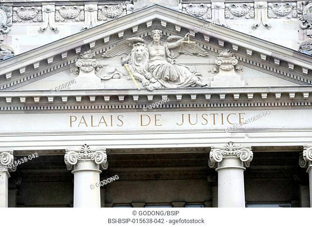 The law cour : Plaias de Justice. Strasbourg. France