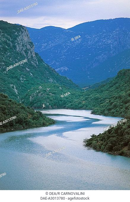 Italy - Sardinia Region - Gulf of Orosei and Gennargentu National Park - Su Gorropu Canyon - River Flumineddu