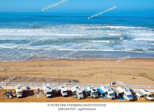 Camping El Barko, site for campervans, Sidi Ifni, Atlantic coast, southern Morocco, northern Africa