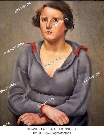 """""""""""""""Woman Seated"""""""", c.1922, Josep de Togores, National Museum of Catalan Art, Museu Nacional d Art de Catalunya, MNAC, Barcelona, Spain, Europe"""