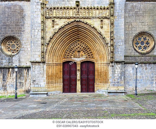 Basilica de la Asuncion porch at Lekeitio