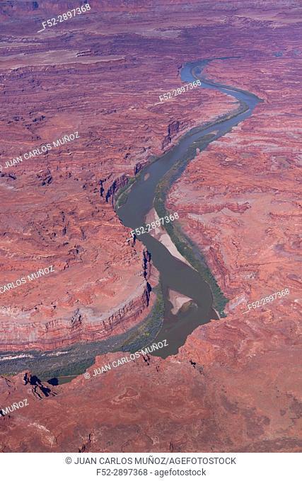 Aerial View, Canyonlands National Park, Utah, USA