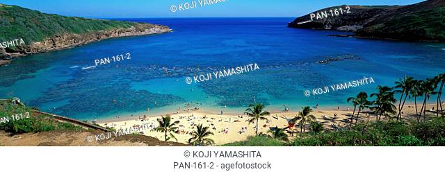 Beach at Hanauma Bay, Oahu, Hawaii, USA, No Release