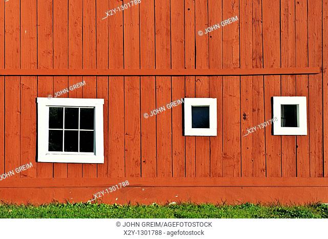 Rustic red barn, Grafton, Vermont, VT, USA
