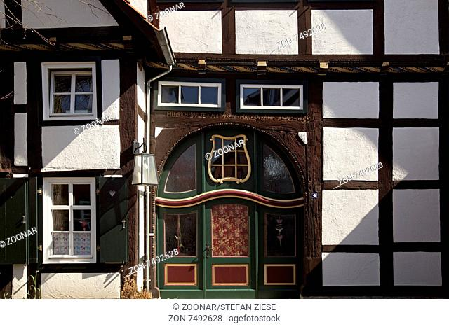 historic house in the old town, Rietberg, Germany