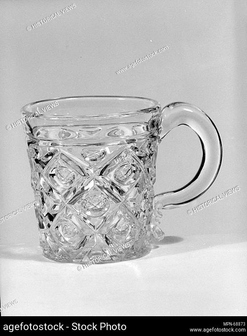 Whiskey Mug. Date: 1850-60; Geography: Probably made in Pittsburgh, Pennsylvania, United States; Culture: American; Medium: Pressed glass