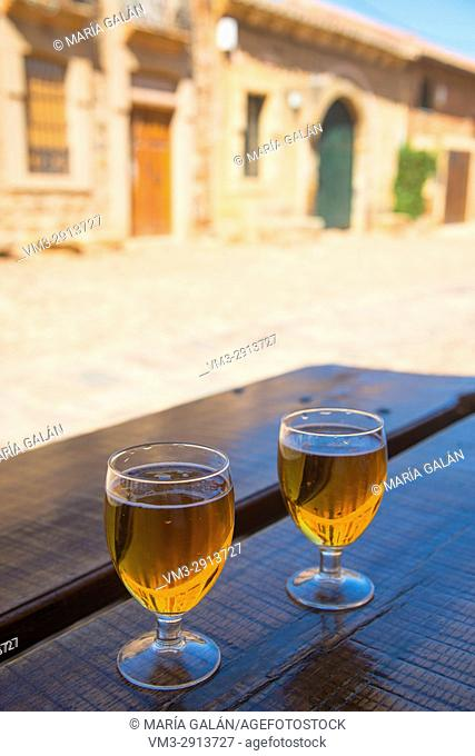 Two glasses of beer in a terrace