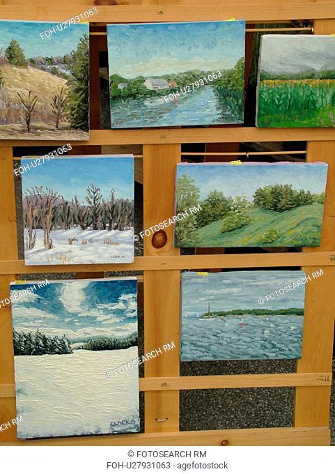 Montpelier, VT, Vermont, Farmer's Market, paintings, prints