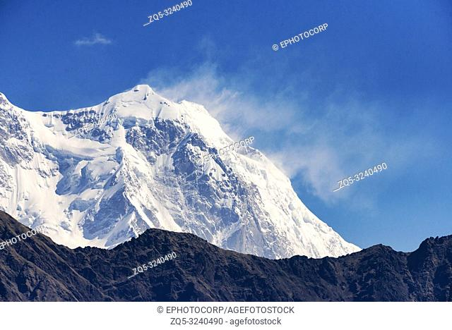 Himalayan peaks seen from Devriya Taal, Garhwal, Uttarakhand, India