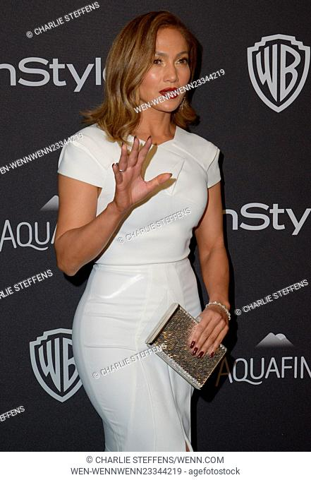 InStyle/Warner Bros Golden Globes after party held at the Beverly Hilton Hotel - Arrivals Featuring: Jennifer Lopez Where: Los Angeles, California
