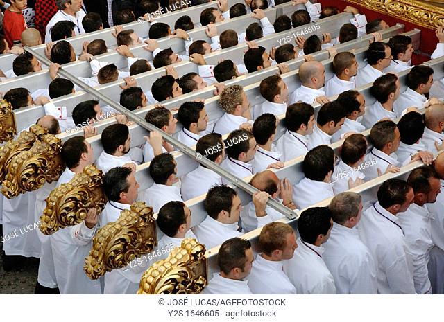 Holy Week, Brotherhood of the Last Supper, Men of Throne, Malaga, Spain