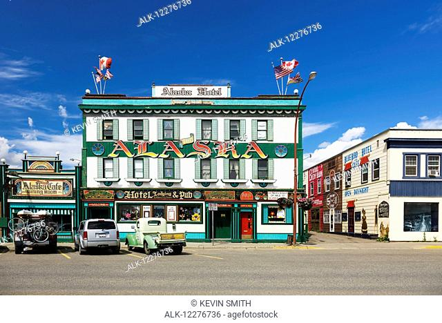 Alaska Hotel & Pub, downtown Dawson Creek, British Columbia, Canada, Summer