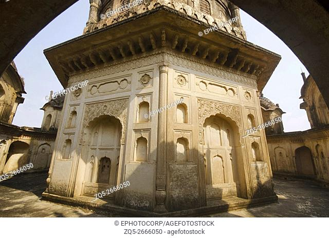 Beautiful inner view of Maharani Kamlapati cenotaph, Dhubela, Madhya Pradesh, India