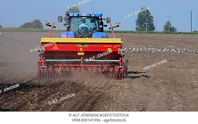Tractor with seed sower