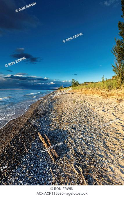 Shores of Lake Huron at Burley Beach in the Pinery Provincial Park, Ontario, Canada