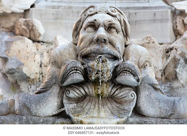 Detail of statue in Piazza Navona,Rome
