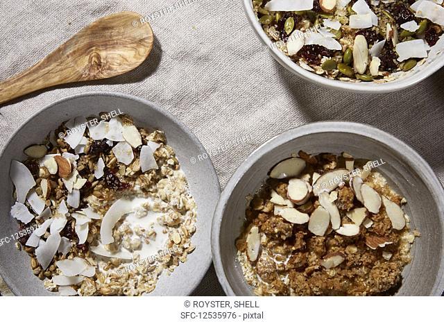 Coconut and almond granola