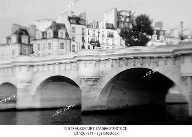 Pont Neuf. Bridge over the Seine river. Paris. France