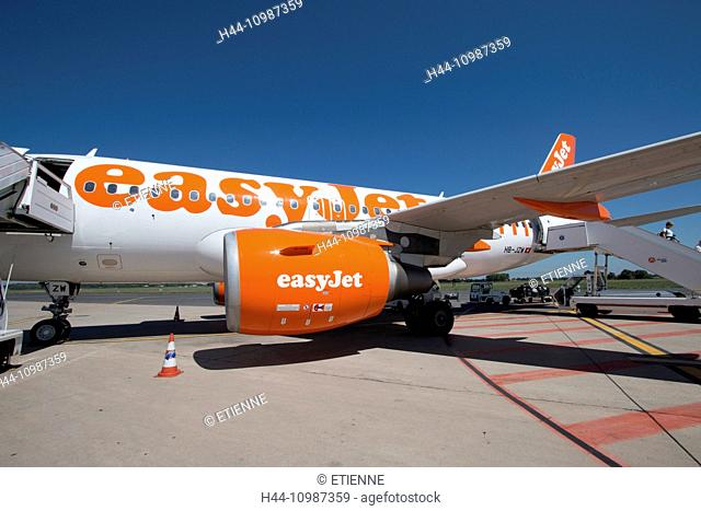 easy jet plane on airfield