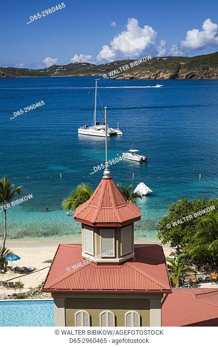U. S. Virgin Islands, St. Thomas, Frenchmans Cove, cove view