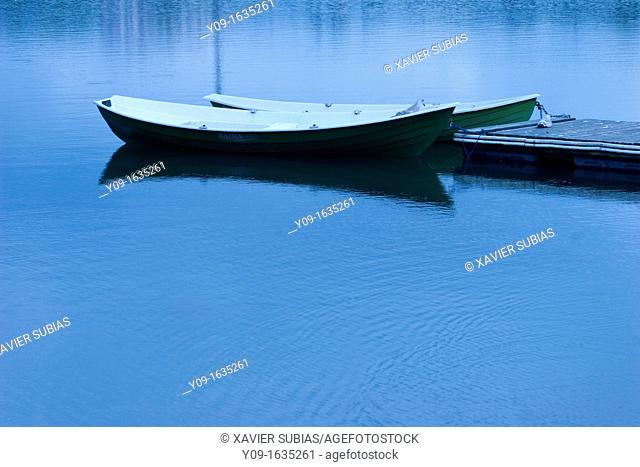 Boats on the Lake Toolonlahti, Helsinki, Uusimaa, Finland