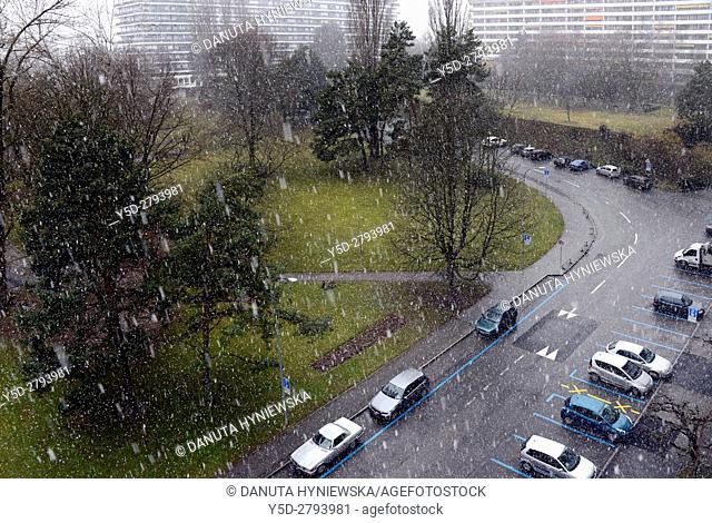 Wintertime in Geneva, Petit Saconnex, Geneva, Switzerland, Europe