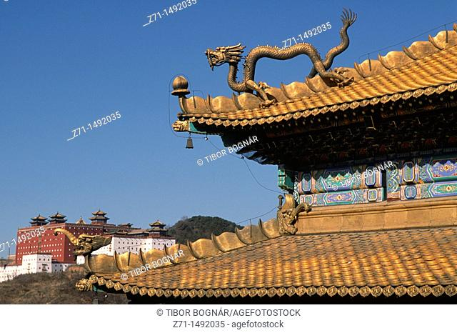 China, Hebei, Chengde, Temple of Happiness and Longevity