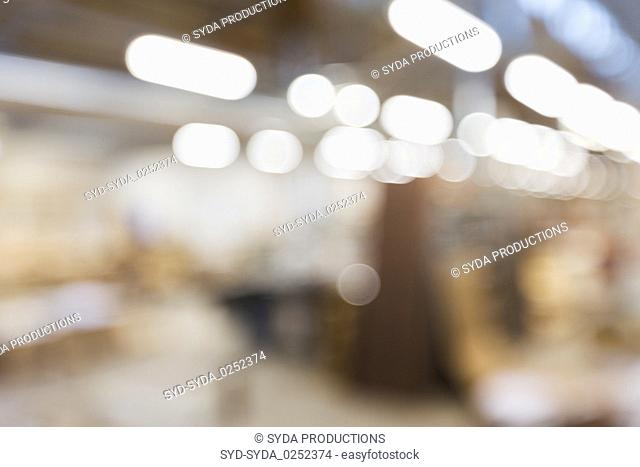 blurred background of factory