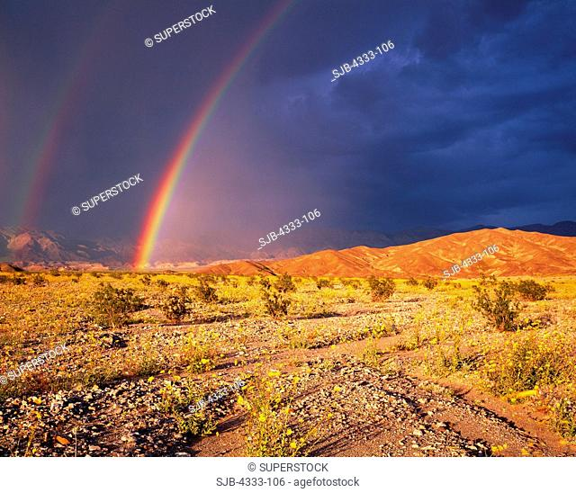 Rainbow death valley national park Stock Photos and Images