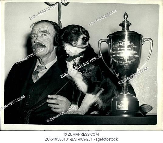 Jan. 01, 1958 - The 'Bravest Dog Of The Year' - Receives Silver Cup And The World's Biggest Dog Biscuits: A ceremony was held at the Waldorf Hotel