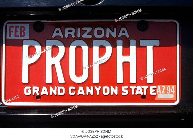 Vanity License Plate - Arizona