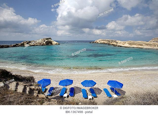 Beach in Lefkos, Karpathos island, Aegean Islands, Aegean Sea, Dodecanese, Greece, Europe