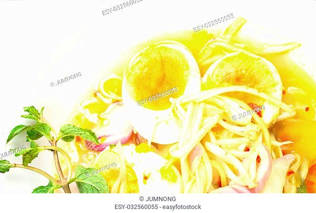 Soft Boiled Eggs Spicy Salad, Thai food