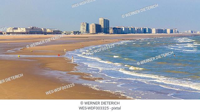 Belgium, Flanders, Ostende, North sea seaside resort, beach