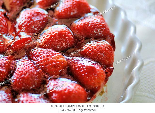 Home made strawberry pie