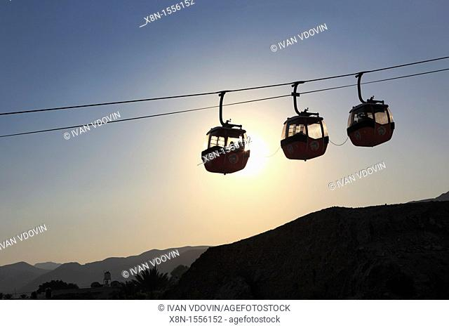 Cable car to the mount of Qarantul, Jericho, Israel