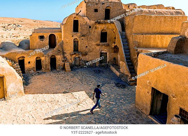 Africa, North Africa, Maghreb, South Tunisia. Governorat of Tataouine. Ksar Ouled Soltane