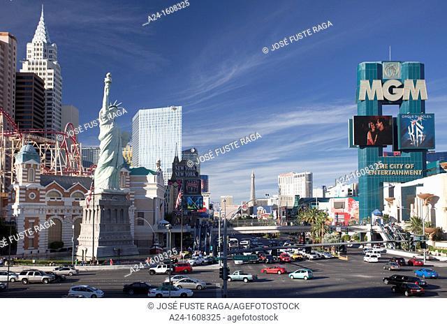 USA-Nevada-Las Vegas City-The Strip Avenue- New Yor New York Hotel